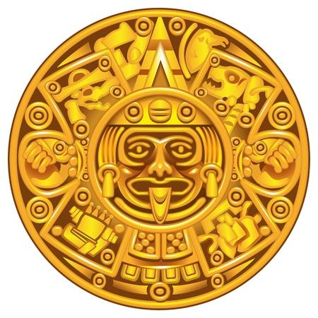 cultura maya: calendario maya Vectores