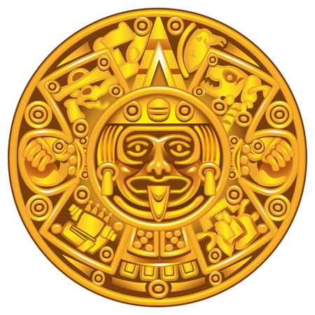 archaeology: mayan calendar Illustration
