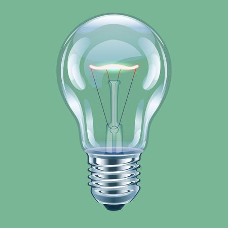 incandescent: Vector illustration of incandescent bulb.