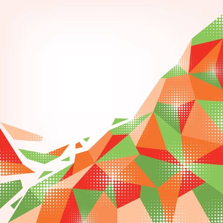 Creative abstract geometric orange-green background