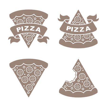 Pizza vector icons set Illustration