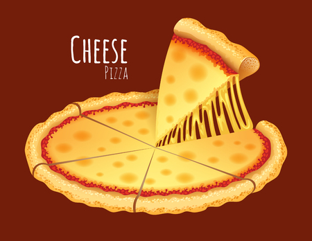 A vector illustration of a cooked Cheese Pizza