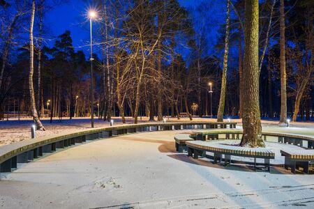 The last evening of winter. Pekhorka Park, Balashikha, Russia