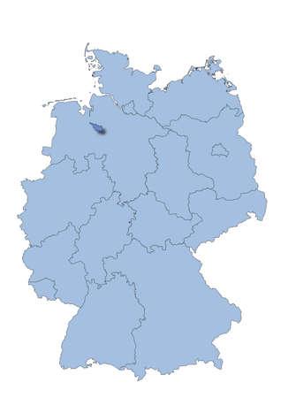 bremen: Germany - Bremen Illustration