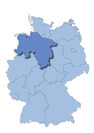 saxony: Germany - Lower Saxony Illustration