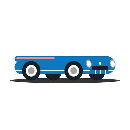 Illustration of classic vehicles, vector illustration