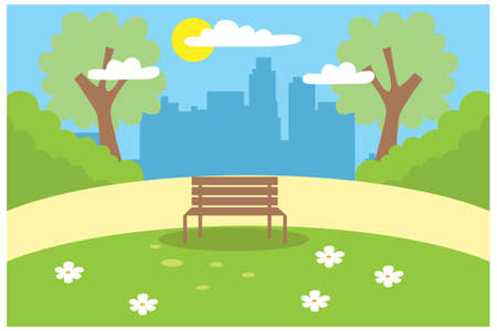 illustration of activities in the park during the day, vector illustration Suitable for Diagrams, Infographics, Book Illustration, Game Asset, And Other Graphic Related Assets Illustration