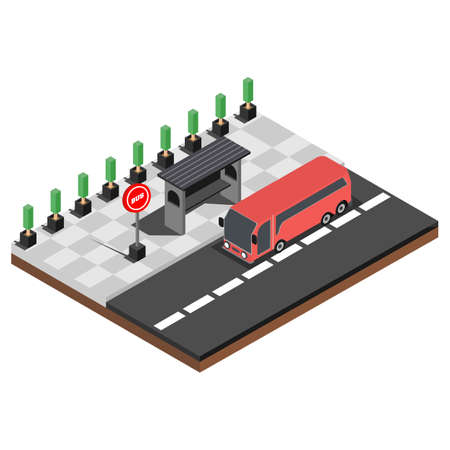 Modern Isometric The concept of where to eat mobile tracking application, Suitable for Diagrams, Infographics, Book Illustration, Game Asset, And Other Graphic Related Assets