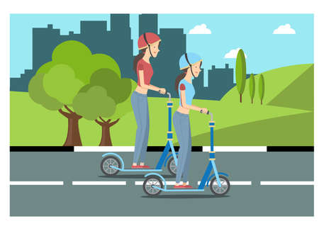 illustration of activities in the park during the day, vector illustration Suitable for Diagrams, Infographics, Book Illustration, Game Asset, And Other Graphic Related Assets