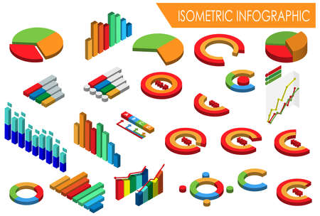Modern Isometric Infographic Illustration, Suitable for Diagrams, Infographics, Book Illustration, Game Asset, And Other Graphic Related Assets Иллюстрация