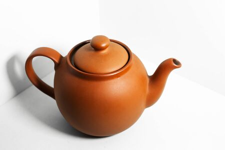 Close-up of teapot isolated on white background. Stock fotó - 142106993