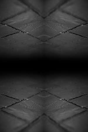 Abstract background of textured black brick wall.