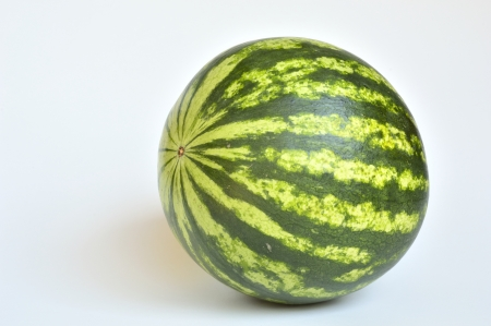 thirst quenching: Closeup of watermelon dwarf fruit and thirst quenching energetic, of smaller dimensions compared to normal watermelons, organic product in Switzerland