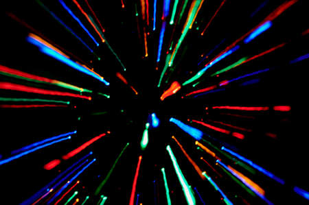moved: Abstract background moved blurred, interplay of colored lights Stock Photo