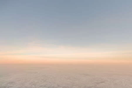 Horizon of clouds with a sunset or sunrise