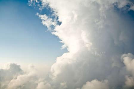 Big white clouds in a blue sky
