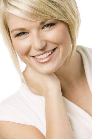 Close-up portrait of a young pretty woman 免版税图像