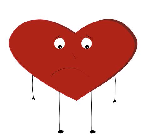 Sad heart vector