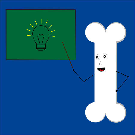 Bone with calcium teaching idea vector Illusztráció