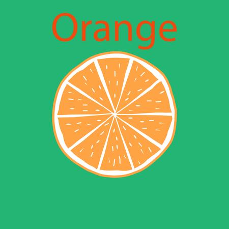 オレンジ色のビタミン イラスト ベクトルのスライス
