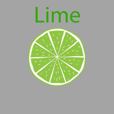 Slice of lime illustration Illustration