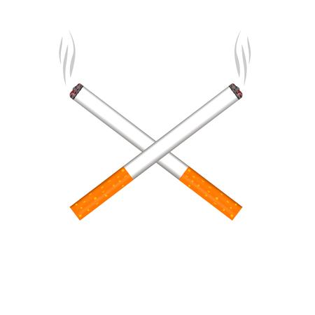 Two cigarette smoking cigarettes