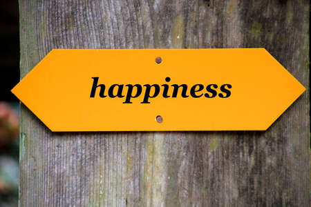 walking path: Happiness Stock Photo
