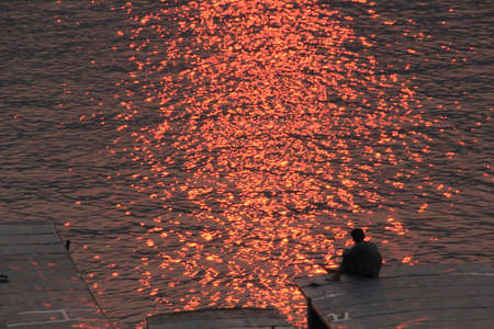mekong: Watching the sunset at Mekong River