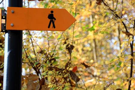 walking path: Walking Track Sign