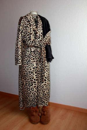 Robe: leopard robe Stock Photo