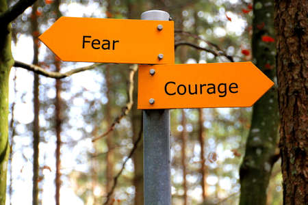 walking path: Beat your fear and show courage