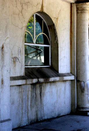 renovate old building facade: Ruined building