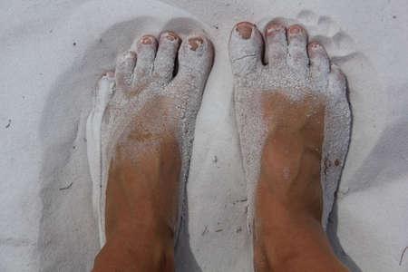 nue plage: Sandy Feet