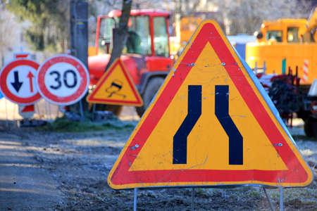 road work: Road work traffic sign