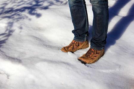 footwear: Winter footwear Stock Photo
