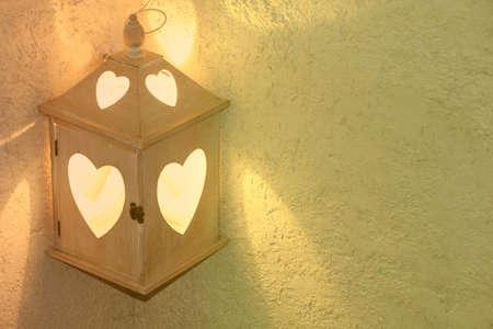 romantic: romantic lantern with hearts