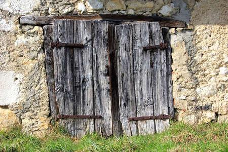 rustic: rustic barn door Stock Photo