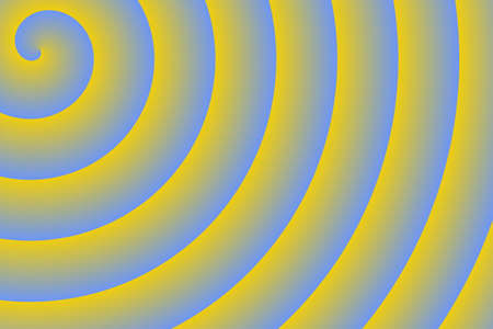 blue spiral: yellow and blue spiral Stock Photo
