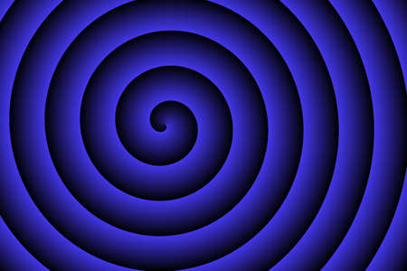 blue spiral: dark blue spiral in the middle Stock Photo