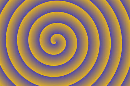 blue spiral: yellow and blue spiral in the center