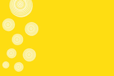 circles: yellow background with white circles Stock Photo