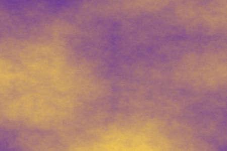 fume: purple background with orange fog