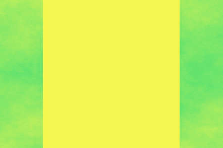 isolated white background: yellow background with green smoky side frames
