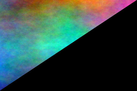 fume: black background with half side of multicolor smoke