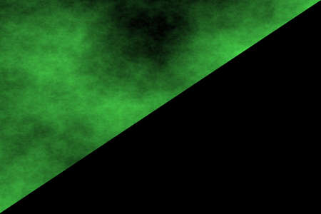 green smoke: black background with half side of green smoke Stock Photo