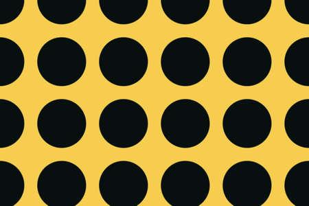 black dots: orange background with large black dots