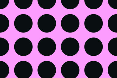 pink and black: pink background with large black dots Stock Photo