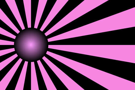 pink and black: Illustration of pink and black rays with a pink and black ball