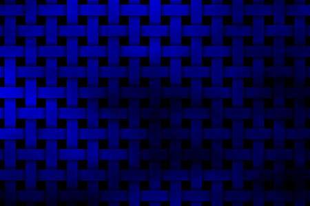 rattan: dark blue woven pattern