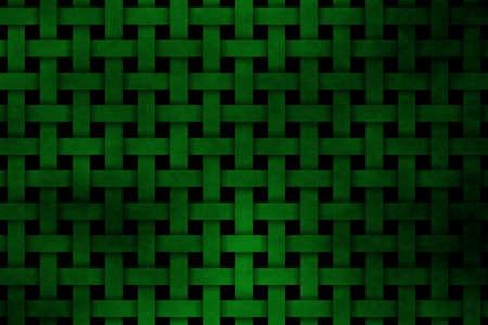 rattan: dark green woven pattern Stock Photo